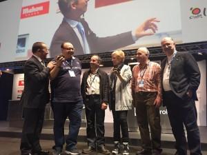 Miembros de la Diputación de Soria, la Asociación e Truficultores de Soria, ASFOSO y los ganadores