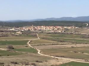 """Vista de Abejar, localidad conocida como la """"Puerta de Pinares"""""""