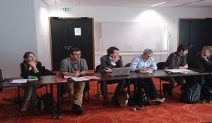 Momento de la reunión Instituto Europeo de Micología en Montpellier
