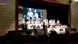 Cocinando en directo en el I Concurso Internacional Cocinando con Trufa