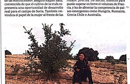 Detalle portada reportaje ABC sobre cultivo de trufa.